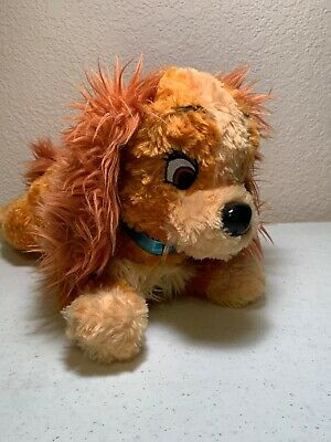 "Disney Parks Lady and the Tramp Plush Lady Girl Dog 10"" Stuffed Animal"