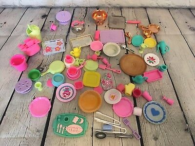 90s Barbie Accessories Kitchen Food Grocery Pots Dishes Cooking Lot Vintage