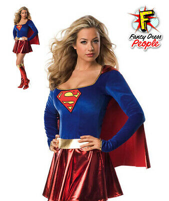 Adults Supergirl Licensed Costume Superhero Ladies Secret Wishes Fancy Dress