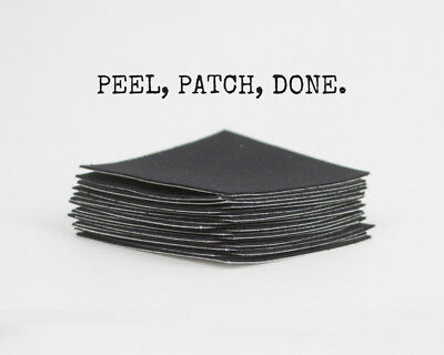"""Fabric Peel and Stick Repair Patch - 10 pack of Black 2.5"""" x 2.5"""""""