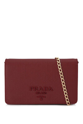 1bac31f56d64 Pre-Owned Prada Saffiano Lux Wallet Bag (Red  Saffiano Leather)