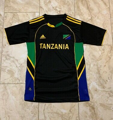 ADIDAS CLIMACOOL MEN S Tanzania Soccer National Team Black Jersey ... 4a105bae1