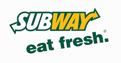 (100) Subway Meal Passes - FREE COMBO MEAL - Fast Shipping!