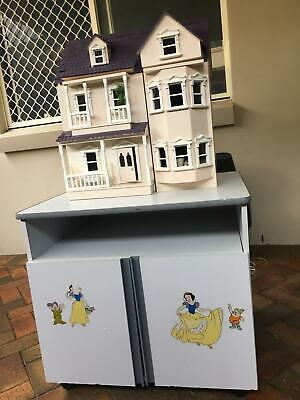 Dollhouse wooden, three story fully furnished 570mm Wide x 630mm High x 350 Deep