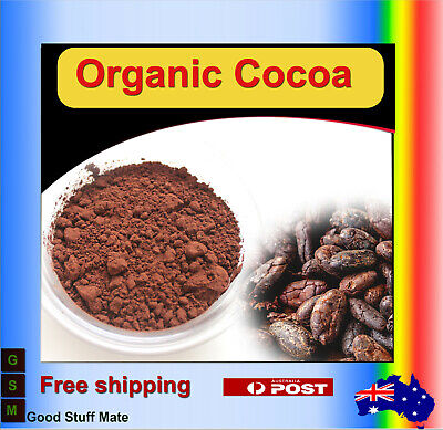 Au Seller 100% Pure Organic Cocoa Powder Hight Quality Strong Cacao Chocolate