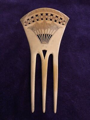 Antico Pettine Ornamentale Old Ivory Hair Comb  19th Century