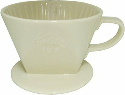 Kalita Ceramic Coffee Dripper White for 2-4 Cups