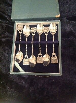 Boxed Set Of Silver Demitasse Spoons With Animal Figures
