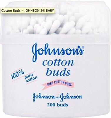 Johnsons Cotton Buds - 200 Cotton Buds (genuine branded items)