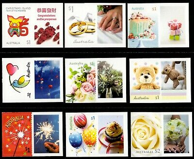 Australia 2019 Moments to Treasure/New Year Personalised Stamps with Tabs (MNH)