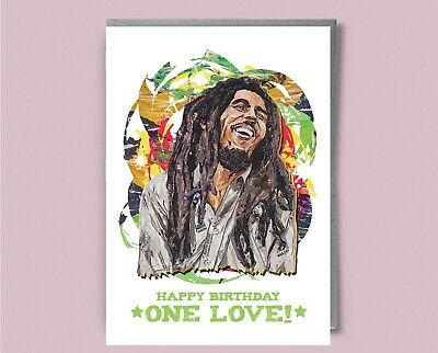 bob marley everything gonna be alright birthday card Funny 5x7 inches .