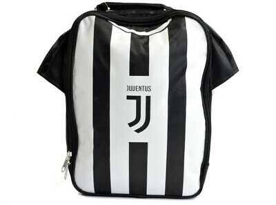official photos e5e98 acb38 JUVENTUS FOOTBALL CLUB Official Black And White Kit Lunch Bag School Crest  Shirt