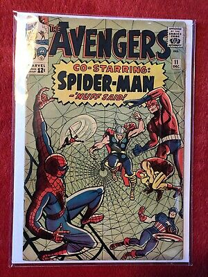 AVENGERS #11 Marvel Silver Age Comic Stan Lee Jack Kirby 1st Spider-Robot 1964