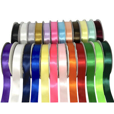 Satin Ribbon Rolls Reels 10mm Width Double Sided 25 Metres SHANDO PREMIUM RIBBON