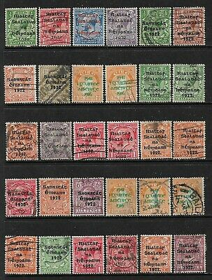 IRELAND Nice Early Overprint Issues Selection - Mint and Used (Jan 019)