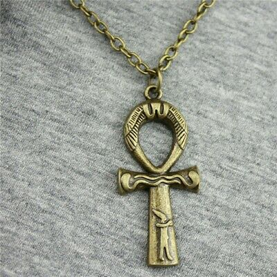Vintage Egyptian Ankh Cross Symbol Of Life Pendant Necklace Charm Jewelry Gift