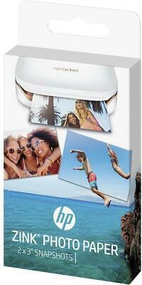 HP ZINK Photo Paper for Sprocket Printers 2 x 3 in 5 x 7.6 cm Sticky Back