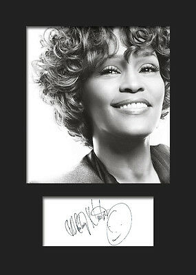 WHITNEY HOUSTON #3 Signed Photo Print A5 Mounted Photo Print - FREE DELIVERY