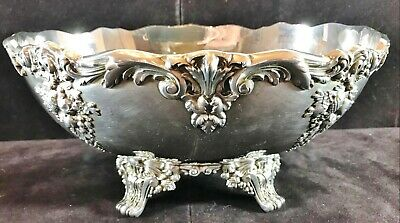 Reed & Barton King Francis Silverplate Holloware Oval Footed Centerpiece #1684