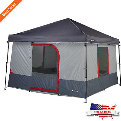 6-Person ConnecTenT for Straight-leg Canopy Waterproof Hiking Dome Camp Shelter