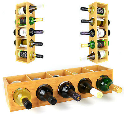 Bamboo Wall Mounted Wine Rack / Wine Holder - Shelf - Stand / Gift #Z8