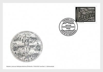 H01 Lithuania 2019 Lithuania Independence Fighting FDC