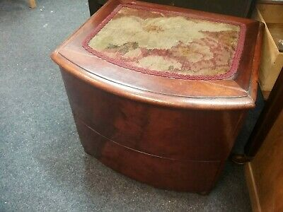 Antique Victorian Mahogany Commode with Step