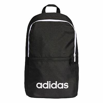 9be31861c4d2 adidas Linear Classic Backpack Rucksack School Sports Bag Black White