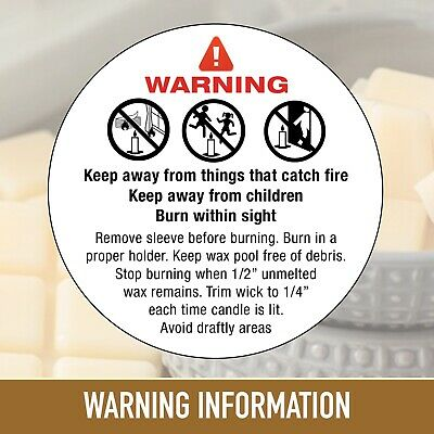 Candle Making Warning | Safety Labels / stickers Sow Wax Melts Various Qty 1043