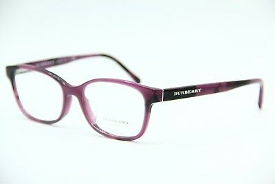 a58a0f48c09 New Burberry B 2201 3519 Violet Eyeglasses Authentic Frame Rx B2201 54-17