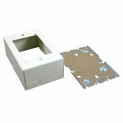 Wiremold 5748 Scuffcoat™ Steel 1-Gang 1-Channel Switch And Receptacle Box