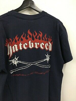 Vintage 90'S 1997 Hatebreed Hardcore Hc Victory Records Metal T-Shirt Xl Rare