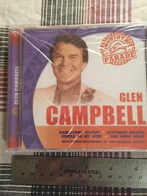 Glen Campbell Country Hit Parade CD Biggest Country #1 Hits Johnny Cash Haggard