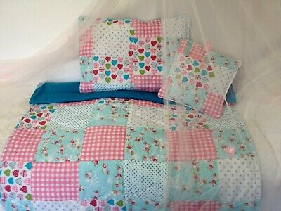 Patchwork Bedding Throw With Matching Pillow And Reading Book Pillow Included