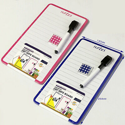 Dry Wipe Magnetic Mini Office Whiteboard Notice Memo Fridge Board Pen Eraser New