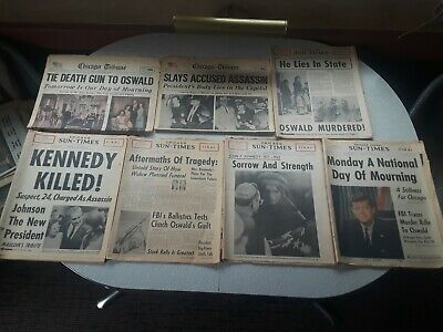 Lot of Vintage Newspapers Kennedy JFK Assassination Chicago