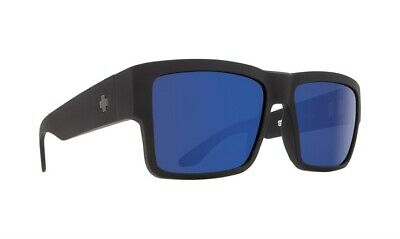 4bc38be15ca New Spy Optic Cyrus Soft Matte Black Happy Bronze Blue Spectra Lens  Sunglasses