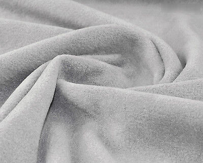 L. Grey Anti Pill fabric Polar fleece material warm soft blankets sold by meter