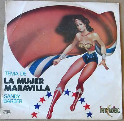 "WONDER Woman SANDY Barber SOUTHAMERICA 7"" PS 1978 Can´t You Just See Me TOP RARE"