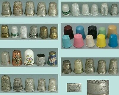 Large Lot of Antique & Vintage Thimbles * English & American