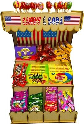 American Sweets Candy USA Warheads Nerds Swedish Fish Complete Shop Display Unit