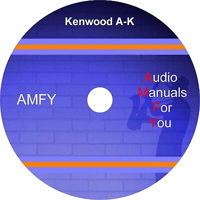 KENWOOD audio servicemanuals, ownersmanuals and schematics on dvd, disc 1