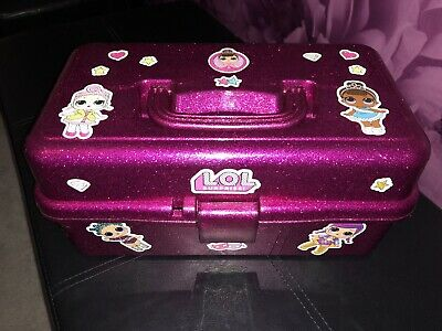 ✨LOL Surprise Doll / Pets ✨Glitter Dolls Storage Pink Box / Caddy ✨ BRAND NEW ✨