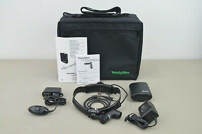 New Welch Allyn 49020 Procedure Headlight System w/ Direct Power & Battery Pack