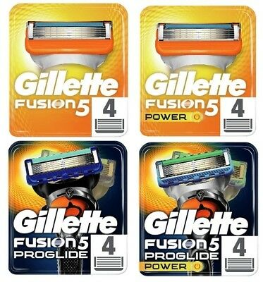 Gillette Fusion - Fusion Power - Proglide - Proglide Power - Proshield- 4 Blades