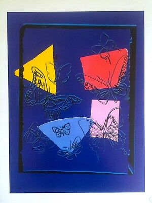 "Andy Warhol Estate Rare Collector's Pop Art Lithograph Print ""butterflies"" 1986"
