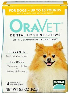 ORAVET Dental Hygiene Chews ~ X-Small Dogs up to 10 lbs. ~ Dental Treats