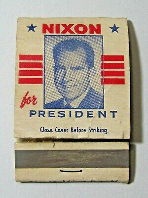 VTG Richard NIXON for President 1968 or 1972 Presidential Campaign Ad Matchbook