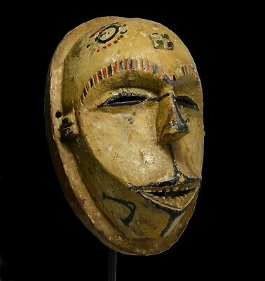 A Very Rare Old Idoma African Mask, African Art