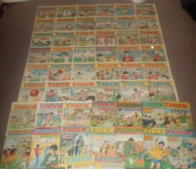 50 x TIGER comics from 1984